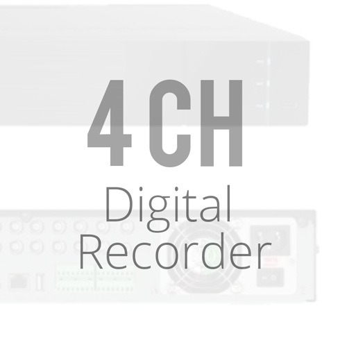 4 Channel Digital Video Recorder DVRs