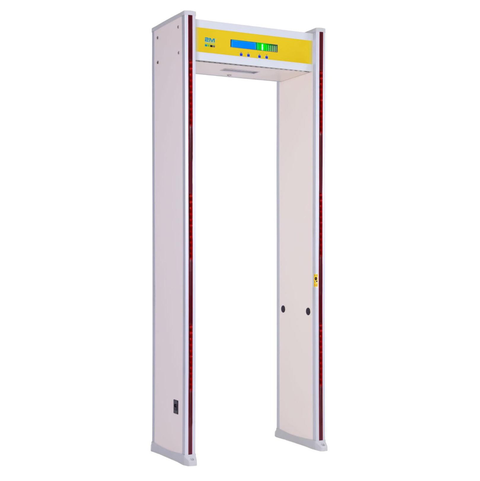2MTHWT-HMD Human Body Temperature Measurement Metal Security Gate 6 Zones with Single Wrist Thermal Sensor