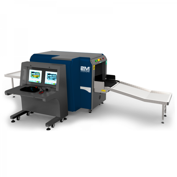 2MX-6550DH X-Ray Baggage Scanner Dual View, Two Generators