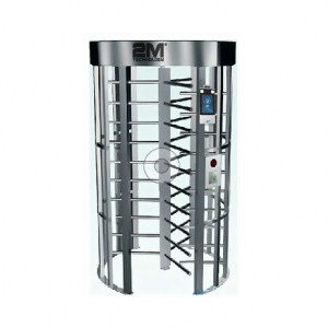 2MFHT-3 Full Height Turnstile Gate with Face Recognition and Temperature Measurement Module