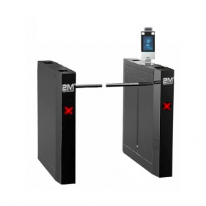 2MLDA-3 Face Recognition and Thermal Detection Access Control Drop Arm Turnstile Gates