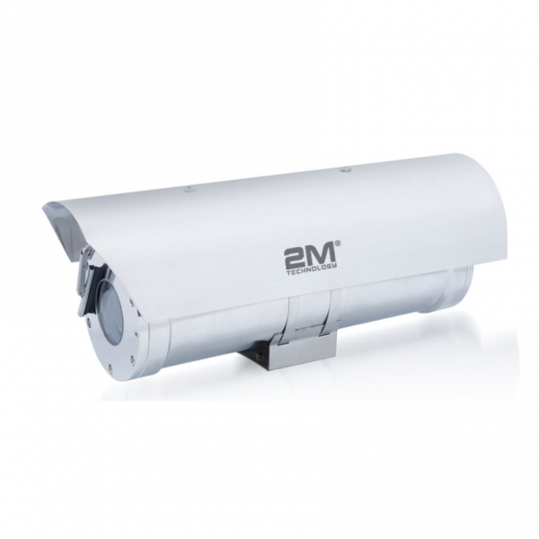 2MEW04-IP4MZ 4MP IP Motorized Infrared Bullet Camera with ATEX Explosion proof CCTV Housing and Sunshade