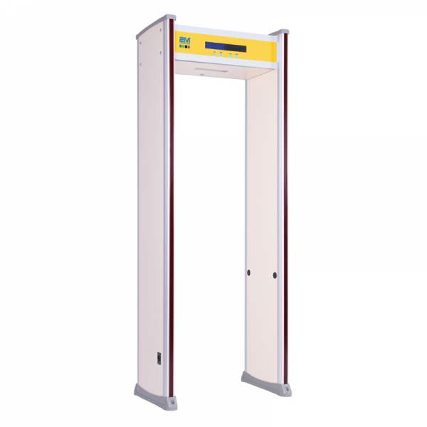 2mwt-i18Z Indoor Rated, 18 Zone Walkthrough Metal Detector with LED Bars