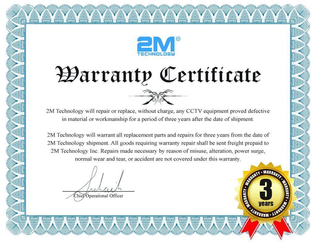 2M Equipment_3yr warranty_Certificate
