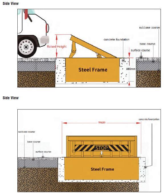 In-Ground Hydraulic Road Blockers views