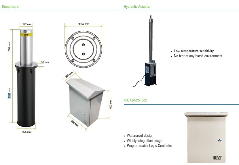 Bollard Dimensions and Accessories