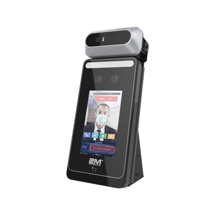 """2MTHR-MINI 4"""" Mini Contactless Face Recognition Terminal with Forehead Temperature Screening"""