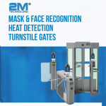Mask & Face recognition heat detection Turnstile gates